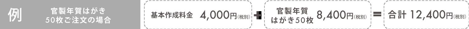 年賀状注文の例