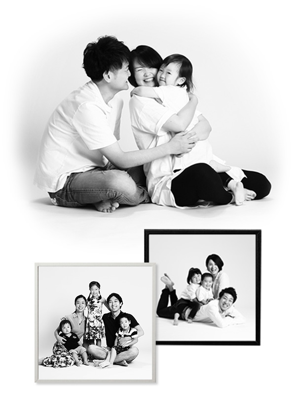 monochromefamily2020 モノクロの家族写真撮影